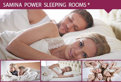 Gesunder Schlaf mit Samina Power Sleeping Rooms